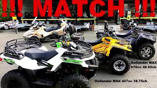7. RUN ARCTIC CAT ALTERRA 700 VS CANAM OUTLANDER MAX 450 & 570
