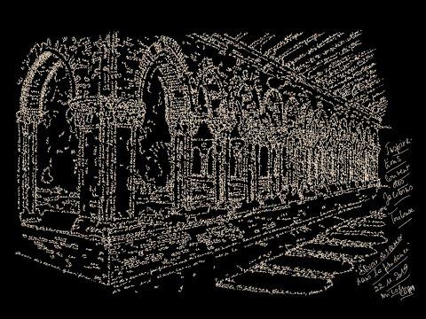 'Savoir discerner dans la prudence' : Poème calligramme de Nicole Coppey