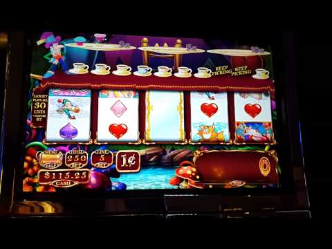 Alice and the Enchanted Mirror Slot Machine Bonus - Mad Hatter Picks