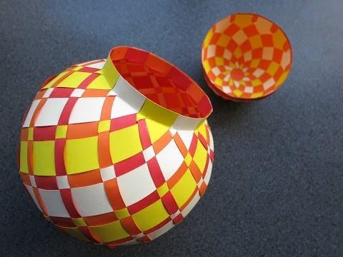 weaving - papercraft - jarbox - tutorial - dutchpapergirl
