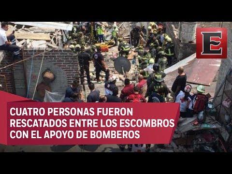 Explosión por acumulación de gas en Iztacalco deja 10 heridos