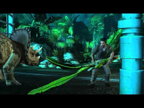 Seven Minutes Triceratops Gameplay Footage for Jurassic Park: The Game