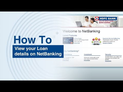 How to view your Loan details on NetBanking?