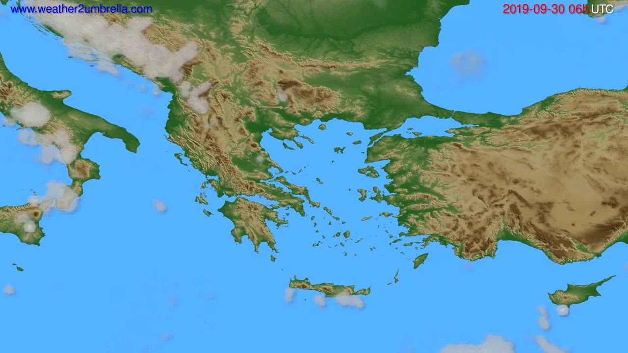 Cloud forecast Greece // modelrun: 00h UTC 2019-09-28