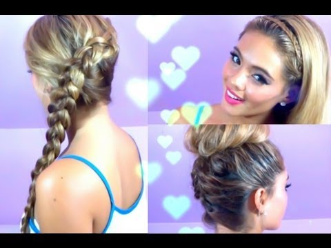 3 Quick and Easy Hairstyles (Summer Hair, Braided Hair)