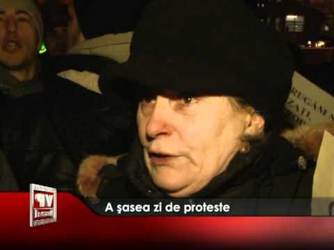 A şasea zi de proteste