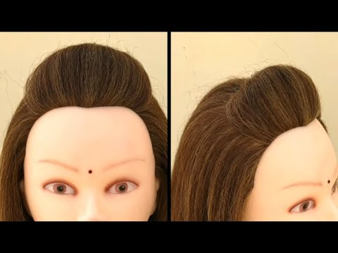Short hair styles - Everyday Hairstyle For Short Hair  Easy Puff For Short Hair