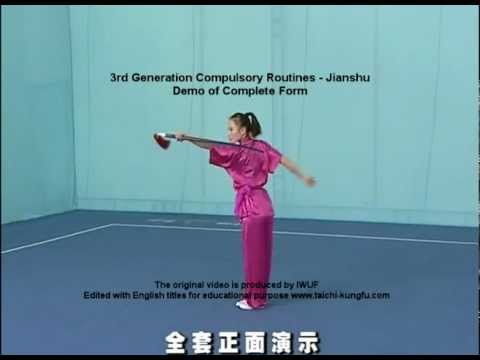 Straight Sword - Edited with English headings for educational purpose. Acknowledgement to IWUF as producer of the original videos in Chinese.