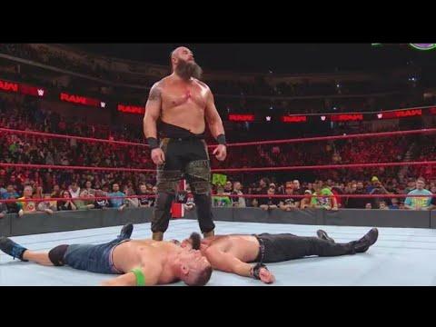 John Cena vs Braun Strowman vs Elias  full match - WWE Monday Night Raw Full Show 5th February 2018