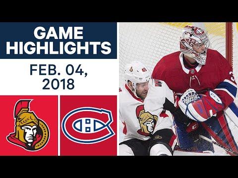 Video: NHL Game Highlights | Senators vs. Canadiens - Feb 4th, 2018