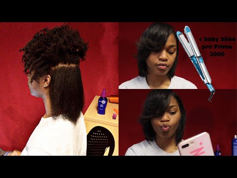 Download Curly To Straight using BaByliss Pro Prima 3000 Flatirons MP3