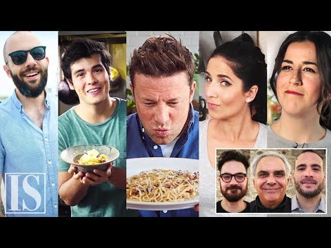 Italian chefs judging the most popular carbonara videos
