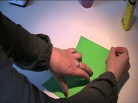 Tulpe basteln mit Videoanleitung