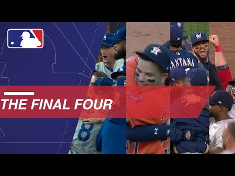 Video: 'Stros, Sox, Dodgers and Crew celebrate trip to LCS