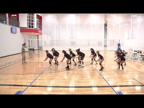 Shuffling Drill - Volleyball Drill