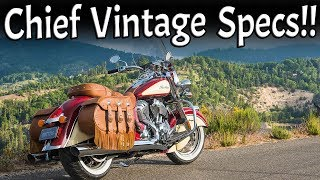 6. 2017 Indian Chief Vintage Specs and Walkaround!!