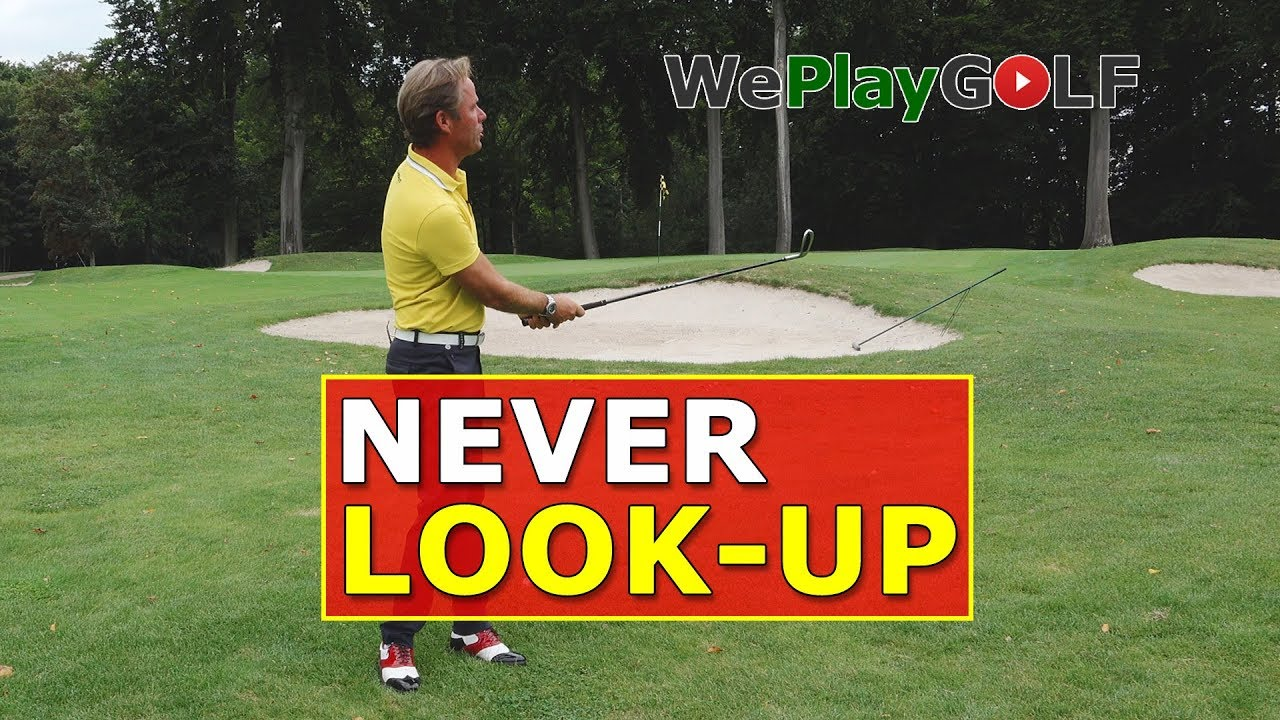 With this tip you never look up before you strike the golf ball!