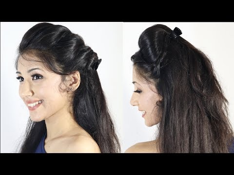 Short hair styles - Super Quick Puff Hairstyles With Clutcher  Quick Hairstyles
