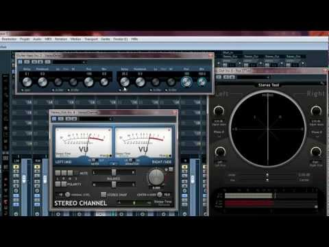 Cubase tutorial showing several stereo processing methods