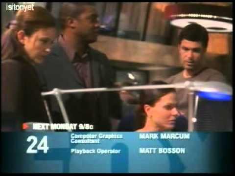 twentyfourspoilers - 24 Season 4 Episode 13 promo. http://www.24spoilers.com .