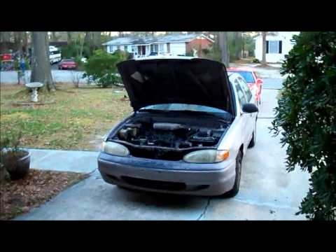 Spark Plug Change Tutorial / How To on 1996 Hyundai Accent 1.5L Inline 4