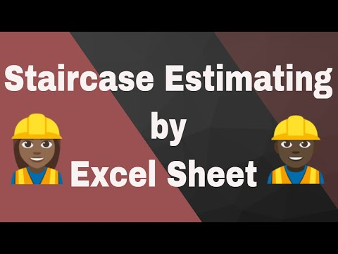 Estimating of Staircase  by Excel Sheet | Estimating Tutorial | Excel Sheet