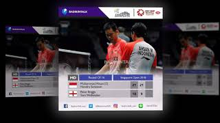 Video Cuplikan Komentar dan Hasil Babak 16 besar Singapore Open Badminton 2018 MP3, 3GP, MP4, WEBM, AVI, FLV Juli 2018