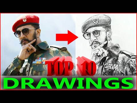 Video Top 10 Hebbuli Pencil Drawings by Kiccha Sudeep fans download in MP3, 3GP, MP4, WEBM, AVI, FLV January 2017