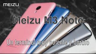 En este video os hablo de un terminal muy económico pero potente, se trata del Meizu M3 Note.Características del Meizu M3 Note:Tamaño 5.5 pulgadas.Pantalla IPS LCD Full HD 1080p (Resolución 1920 x 1080). 3GB de RAM.Procesador Mediatek MT6755 Helio P10 de 8 núcleos.Batería de 4.100 mAh.Sistema operativo Android 5.0.1.Cámaras 13/5 mpx.Versiones en 16 y 32 GB de almacenamiento.Cuerpo metálico.Lector de huella dactilares.Disponible en tres colores: oro, plata y gris.Si te ha gustado el video dale a LIKE, compártelo en tus redes sociales y suscríbete.También puedes encontrarnos en:Facebook: http://www.facebook.com/pages/configurarequipos/96505544380?v=wallTwitter: http://twitter.com/configurarequipNuestra Página Web: http://www.configurarequipos.com