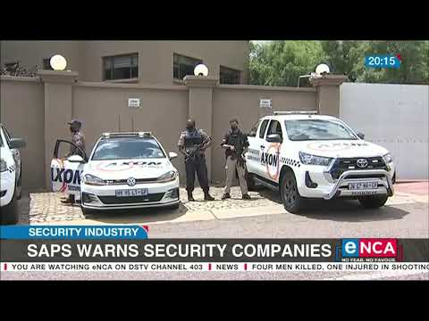 SAPS warn security companies