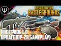 PLAYERUNKNOWN'S BATTLEGROUNDS — HUGE PUBG 10 Update (DP-28 Gameplay)!