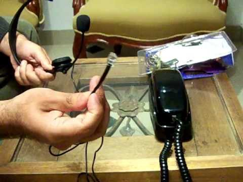 Diadema Telefónica compatible con Cualquier Teléfono Fijo