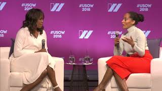 Video Michelle Obama & Tracee Ellis Ross in Conversation at The 2018 United State of Women Summit MP3, 3GP, MP4, WEBM, AVI, FLV Desember 2018