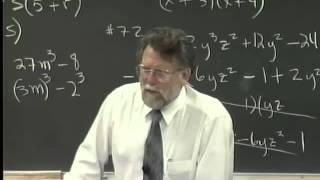 Lecture 29: Beginning Algebra (Math 70)