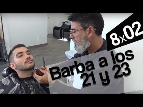 8X2 Barba a los 21 y 23 años