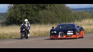 8. Ultra HD 4K Rolling RACE BMW S1000RR vs Bugatti Veyron Vitesse -presented by Samsung