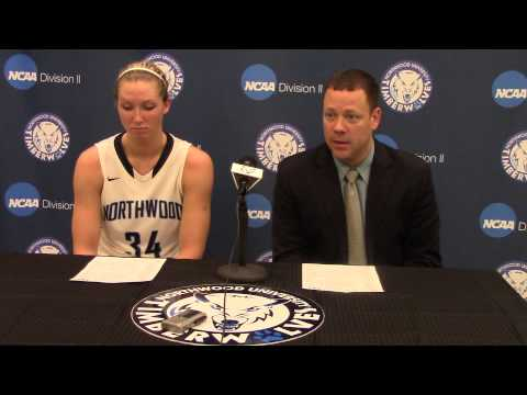 Northwood University Women's Basketball (12/13/14) NU 70, Malone 46 - Press Conference