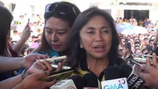 Visit to Masbate always emotional for Leni Robredo