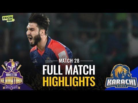 PSL 2019 Match 28: Karachi Kings vs Quetta Gladiators | Caltex Full Match Highlights - Thời lượng: 4:59.