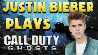 Justin Bieber playing Call of Duty GHOSTS!
