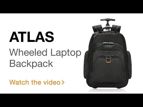 EVERKI Atlas Wheeled Laptop Backpack, 13-Inch to 17.3-Inch Adaptable Compartment (EKP122)