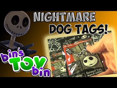 bin - Halloween is getting closer so it's a perfect time to open blind bags from Disney's The Nightmare Before Christmas! Each bag includes a mystery dog tag (24 to collect) and sticker sheet! Thanks...