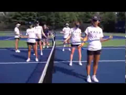 Yale Women's Tennis first week of practice