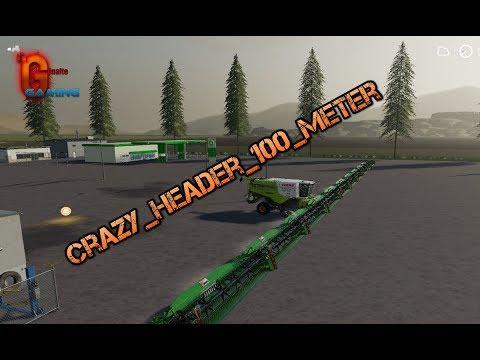 FS19 Crazy Header 100 Meter v1.0