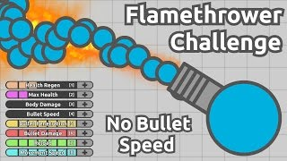 FLAMETHROWER CHALLENGE! NO BULLET SPEED STREAMLINER! (Diep.io ...