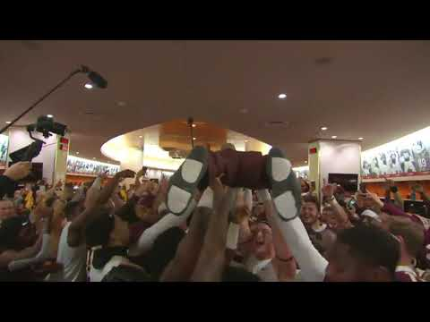 PJ Fleck Crowd Surfing After Beating Penn State