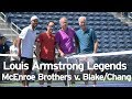 Download Lagu John and Patrick McEnroe vs. James Blake and Michael Chang from Louis Armstrong Stadium Mp3 Free