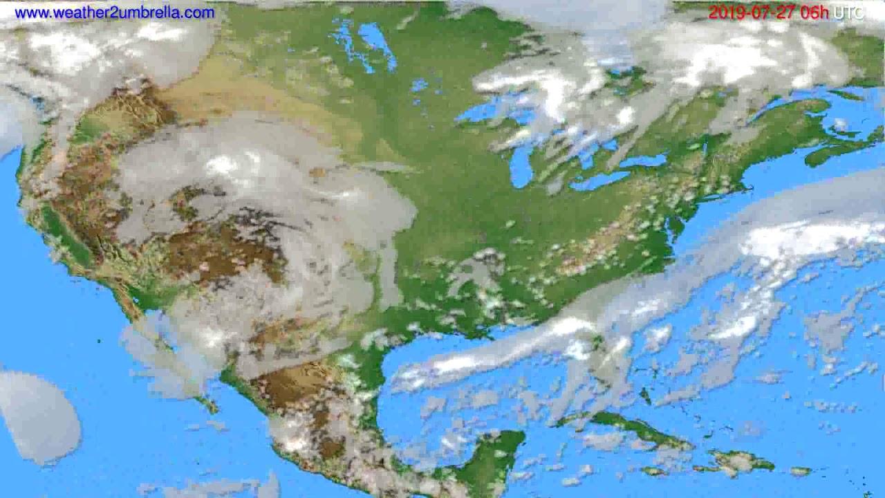 Cloud forecast USA & Canada // modelrun: 12h UTC 2019-07-24