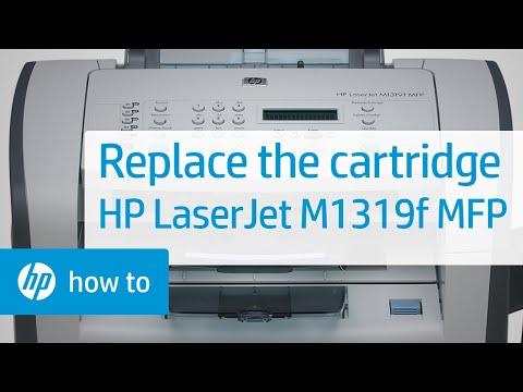 Replacing a Cartridge - HP LaserJet M1319f Multifunction Printer