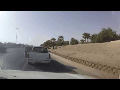 Kuwaiti Road rage caught on a dashcam